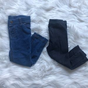 2 Pair of 18 month Jeggings